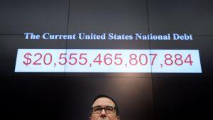 USA:s statsskuld den 6 februari 2018.
