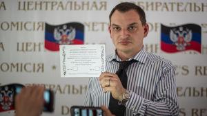 Roman Ljagin, ordförande för valkommissionen.