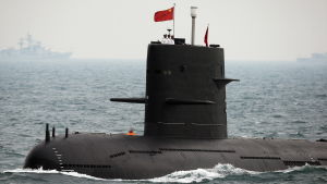 Kinesisk ubåt som deltog i marinens 60-årsfest år 2009