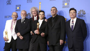 Queen, Rami Malek, Mike Myers och Graham King vann pris för bästa film med Bohemian Rhapsody.