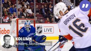 Anders Nordenswan skriver NHL-kolumner för Yle Sporten.