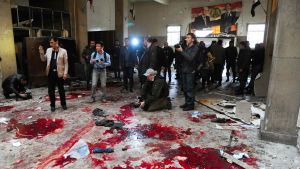 blod på golvet