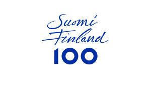 Suomi Finland 100 logotyp