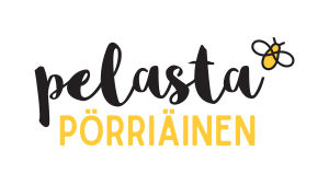 Pelasta pörriäinen -kampanjan logo.