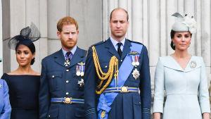 Britannina kuninkaalliset Sussexin herttuatar Meghan, prinssi Harry, prinssi William ja Cambridgen herttuatar Cathrine.