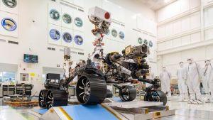 Mars 2020 -kulkija koeajossa.