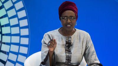 Winnie Byanyima, chef för FN:s program mot hiv och aids