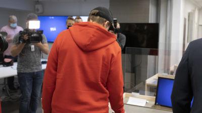 Mannen som åtalas för skolattacken i Kuopio i hovrätten.