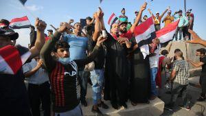 Demonstration i Bagdad 25.10.2019