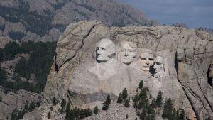 Mount Rushmore, i Keystone, South Dakota. Bilden tagen den 2 juli 2020.