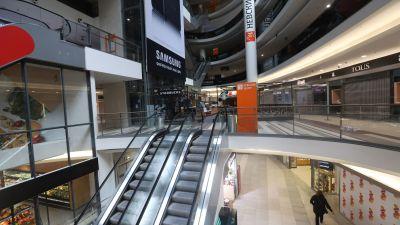 Ett tomt köpcenter i Ryssland.