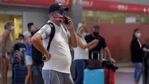 Brittisk turist, corona, spanien