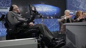 Stephen Hawking och Yuri Milner