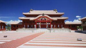 Shuri-slottet i Okinawaprefekturen i Japan.