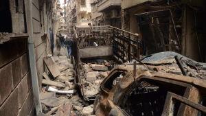 Aleppo så gott som sönderbombat