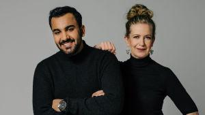 Muusikot Ali Saad ja Sanna Salmenkallio