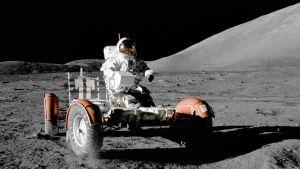 NASAs månbil på månen.