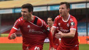 Jordan Tunnicliffe firar ett mål