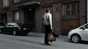 Magnus Brattens (på bilden) morfar med samma namn var spion i Finland på 1950-talet. Han bodde på Dagmarsgatan i Främre Tölö.