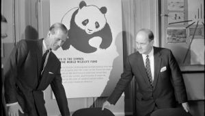 Prins Philip på ett möte med Världsnaturfonden år 1965.