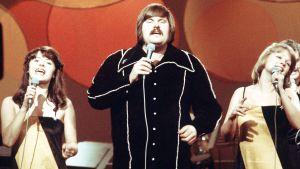 Fredi ja ystävät Euroviisuissa 1976.