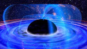 Ett supermassivt svart hål.