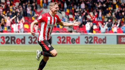 Marcus Forss jublar efter 3-1-målet mot Bournemouth.