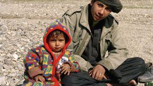 Flyktingar i Maslakh-lägret i Afghanistan