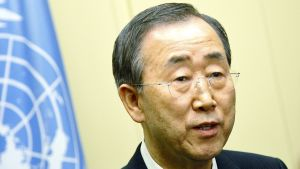 FN:s generalsekreterare Ban Ki-Moon.