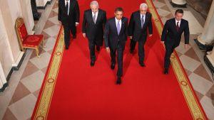 Mellanösternparterna med Barack Obama i mitten