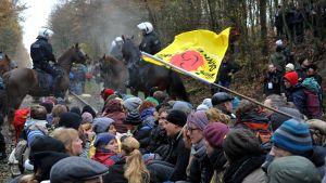 Protester mot kärnavfall i Tyskland