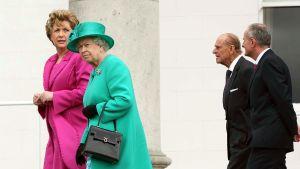 drottning Elizabeth på besök i Irland