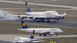 Flyg på Frankfurts flygplats