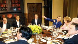 USA:s president Barack Obama stod värd för middagen vid Camp David