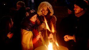 Demonstranter i Kiev vill att presidenten backar i sitt beslut angående EU