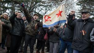 Proryska aktivister i Simferopol