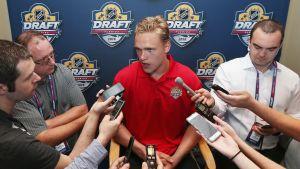 Mikko Rantanen, NHL-draften juni 2015.