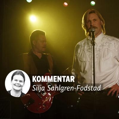 Kari Tapio (Matti Ristinen) på scenen i filmen Olen suomalainen.