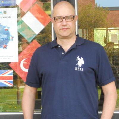 Jouni Piippo, rektor vid Lovisanejdens högstadium.