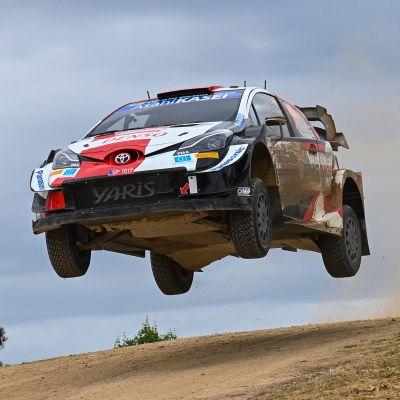 Toyotan Kalle Rovanperä Sardinian MM-rallissa.