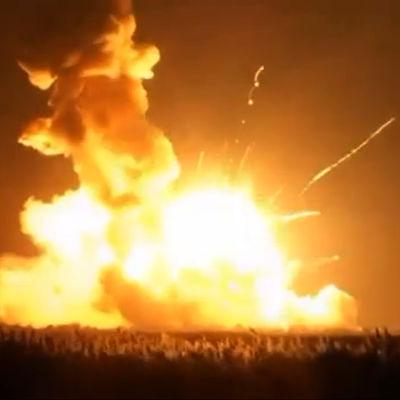En kommersiell raket som anlitas av Nasa exploderade i Virginia den 28 oktober 2014.