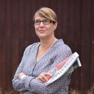 Tidningen Västra Nylands chefredaktör Marina Holmberg.