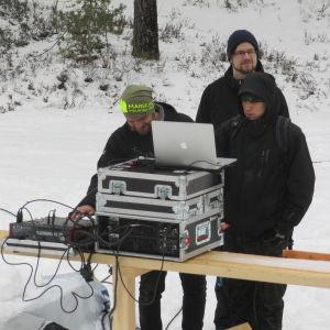 Tre män i Harparskog
