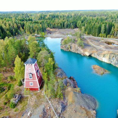 Orijärven kaivosalue ilmakuva