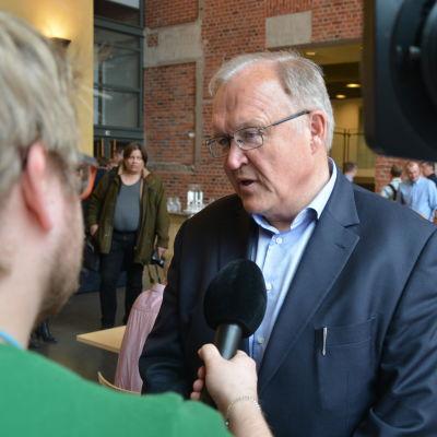 Göran Persson på Academill i Vasa.