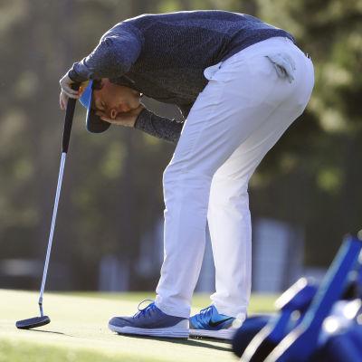 Rory McIlroy hade en dålig dag i US Masters.
