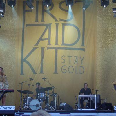 First Aid Kit på Ruisrock den 6 juli 2014.