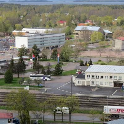 Hangös järnvägs- och busstation.