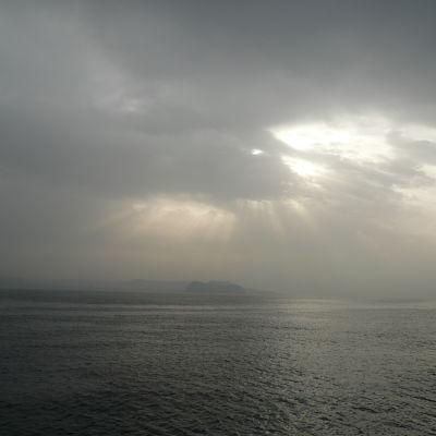 Supervulkanen Campi Flegrei i Neapel.