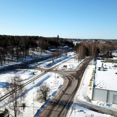Plankorsning i Ekenäs.